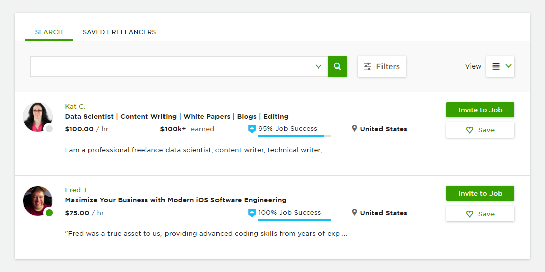 Sample Profiles and Best Practices – Upwork Help Center