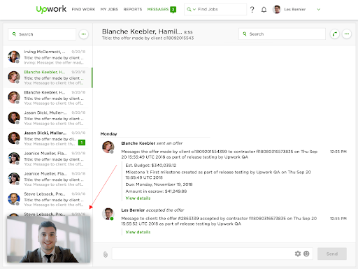 Video And Voice Calls Upwork Help
